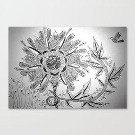 Flower Lure Canvas Print