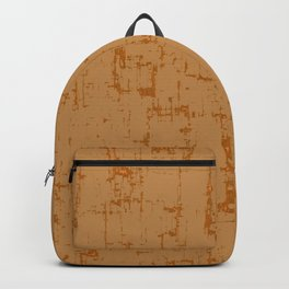 Ocher yellow background Backpack