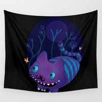 cheshire Wall Tapestries featuring Cheshire by Maria Jose Da Luz