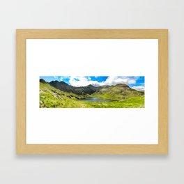 Snowdon Horseshoe. Framed Art Print