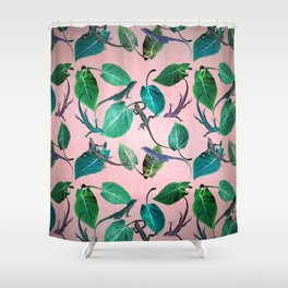 Mayfair Lizards and Leaves Shower Curtain