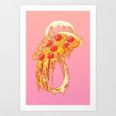 forever pizza Art Print