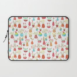 watercolor potted flowers and cacti Laptop Sleeve
