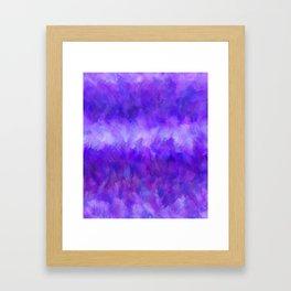 Dappled Blue Violet Abstract Framed Art Print