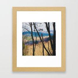 Mountain Shadows Framed Art Print