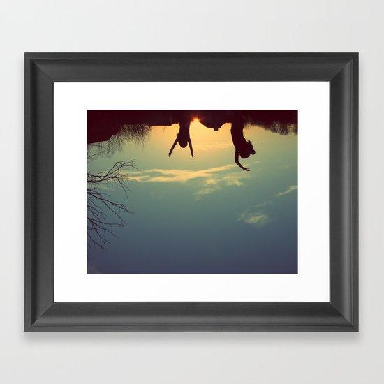 upsidedown&insideout Framed Art Print