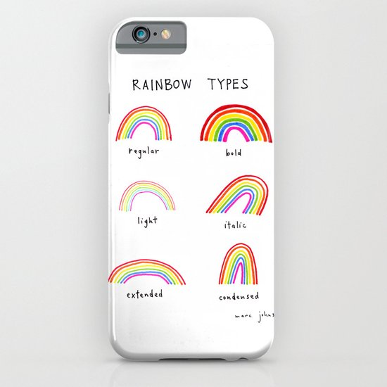 rainbow types iPhone & iPod Case