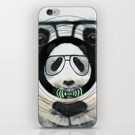 Fancy Panda on Vinyl iPhone Skin