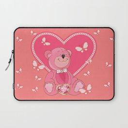 Teddy Bear and Butterflies Laptop Sleeve