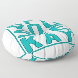 """Eff You See Kay"" for all the fuckers and fuck lovers out there!  Floor Pillow"