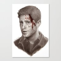 winchester Canvas Prints featuring Dean Winchester by maichan