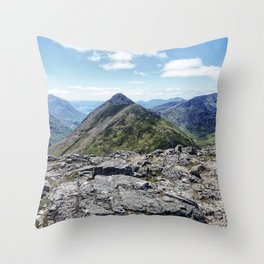 Aonach Eagach from Stob Coire Raineach Throw Pillow