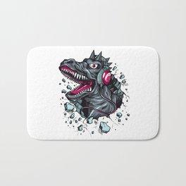 Arsenic Druck Dino with Headphones Bath Mat