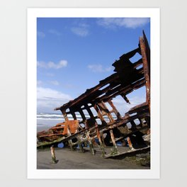 Wreck of the Peter Iredale Art Print