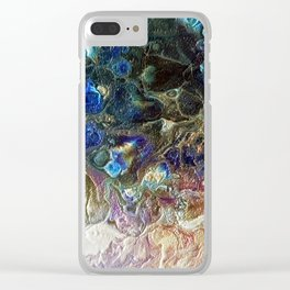 Currents 1 (Abstract Dachshund) Clear iPhone Case