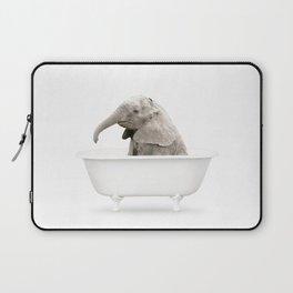 Baby Elephant in a Vintage Bathtub (c) Laptop Sleeve