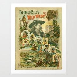 Buffalo Bill's Wild West (programme) Art Print