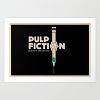 pulp fiction Art Prints featuring Pulp Fiction  by Jacob Wise