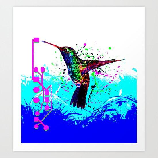 hummingbird Program Art Print