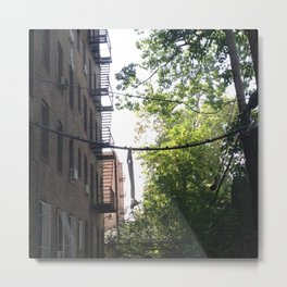 Suspended Amidst the City Metal Print