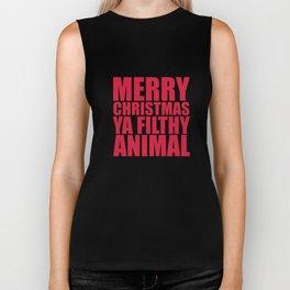 Merry Christmas Ya Filthy Animal Biker Tank