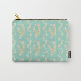 Magnolia swans (turquoise green background) Carry-All Pouch
