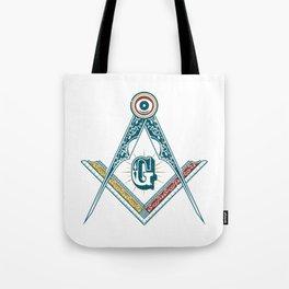 Square and Compass - freemasonry Tote Bag