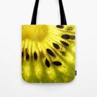 kiwi Tote Bags featuring Kiwi by Irene Leon