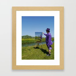Painting A Surreal Summer In Glastonbury Framed Art Print