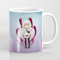 anxiety Mugs featuring Anxiety by Freeminds