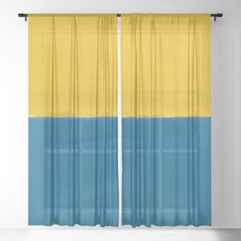 Untitled (Yellow and Blue) by Mark Rothko HD Sheer Curtain