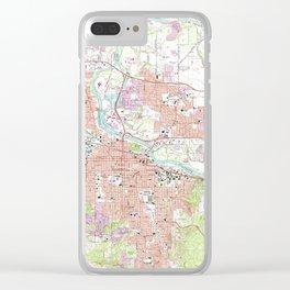 Vintage Map of Eugene Oregon (1967) Clear iPhone Case