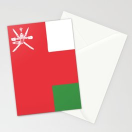 Oman flag emblem Stationery Cards