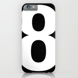 Lucky number: 8 iPhone Case