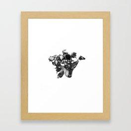 Shiba Rose Framed Art Print