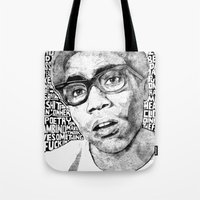 childish gambino Tote Bags featuring Gambino by Seth Beukes