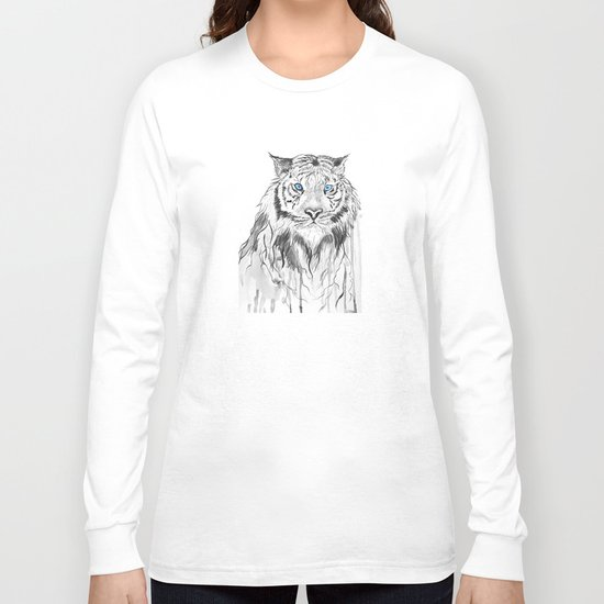 Tiger, black and white Long Sleeve T-shirt