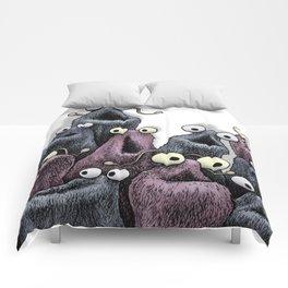 Yip Yip (white background) Comforters