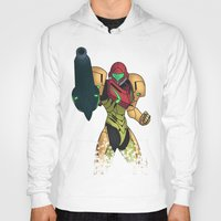 samus Hoodies featuring Samus by Bradley Bailey
