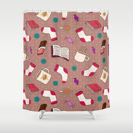 A Cozy Winter's Night Shower Curtain