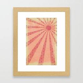 Pink Rays  Framed Art Print