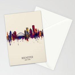 Rochester New York Skyline Stationery Cards