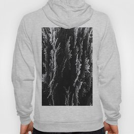 closeup leaf texture abstract background in black and white Hoody