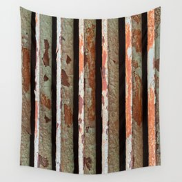 Rusty Radiator Bars Wall Tapestry