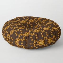 Spruce Pollen Grains - Yellow and Black Floor Pillow