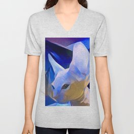 Pablo's Cat Blue Period Unisex V-Neck