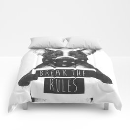 Rebel dog Comforters