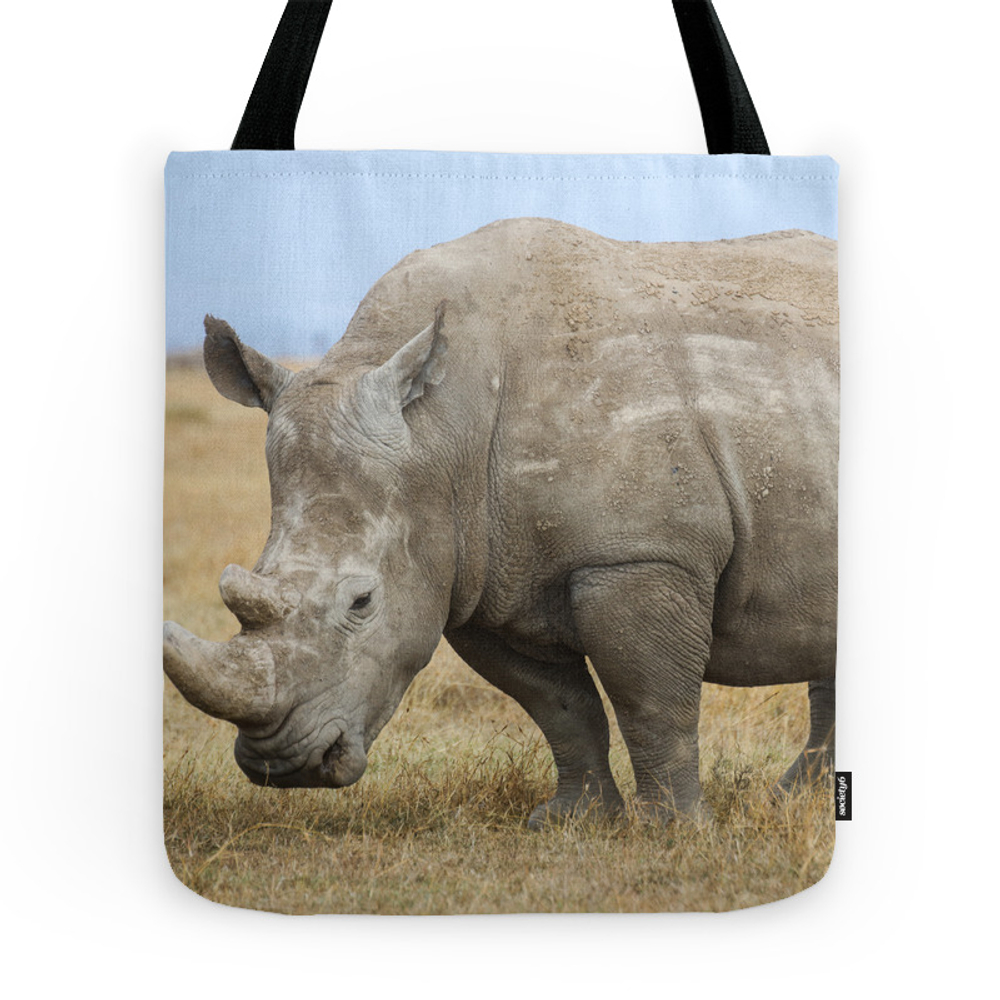 White Rhino Tote Purse by bcostelloe (TBG7903469) photo
