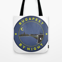 Budapest By Night, circle with frame Tote Bag