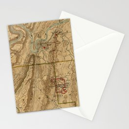 Map Of Chattanooga 1895 Stationery Cards